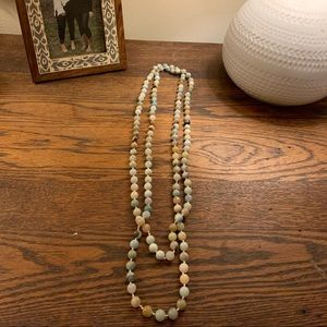 Beaded Knot Wrap Necklace
